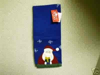 Russ Berrie Christmas - Moments of Wonder Santa Kitchen / Hand Towel FREE USA SHIPPING
