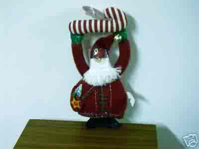 Russ Berrie Christmas - Moments of Wonder Santa Doorknob Hanger FREE USA SHIPPING!