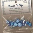 Dress it Up Bead Collection #5 - Blue Fimo / Acrylic Hearts - FREE USA SHIPPING!