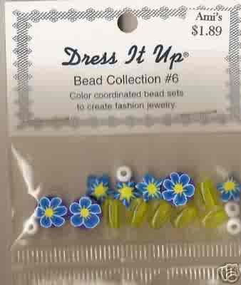 Dress it Up Bead Collection #6 - Yellow & Floral - Fimo/Acrylic - FREE USA SHIPPING!