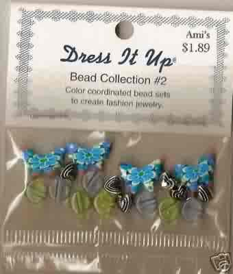 Dress It Up Bead Collection #2 - Butterflies - Fimo/Acrylic - FREE USA SHIPPING!!!