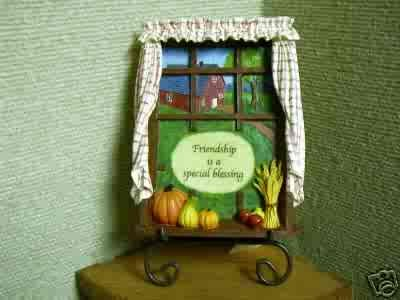 Russ Berrie Autumn Settings Collection Plaque with Stand - Friendship - FREE USA SHIPPING!!