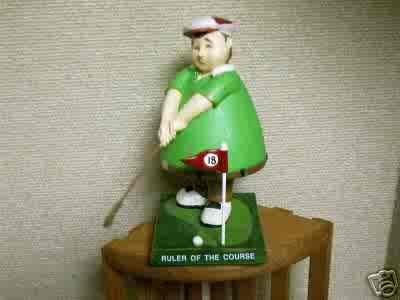 Russ Berrie Bobble Guyz - Ruler of the Course Golfer - Bobble Bods  FREE USA SHIPPING!