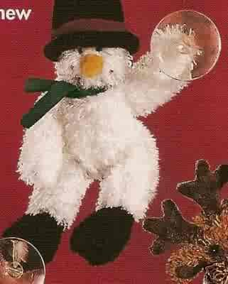 Russ Christmas Glitter Gang Plush Window Cling - Snowman FREE USA SHIPPING!!