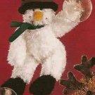 Russ Christmas Glitter Gang Plush Window Cling - Snowman FREE USA SHIPPING!!