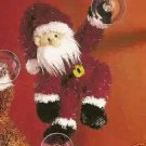 Russ Christmas Glitter Gang Plush Window Cling - Santa - FREE USA SHIPPING!