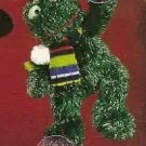 Russ Christmas Glitter Gang Plush Window Cling - Frog - FREE USA SHIPPING!!