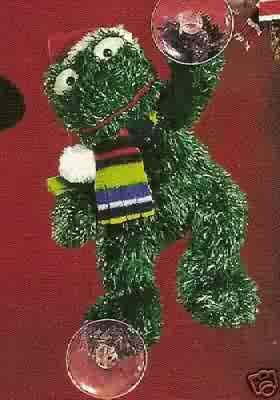 Russ Christmas Glitter Gang Plush Window Cling - Frog - FREE USA SHIPPING!!