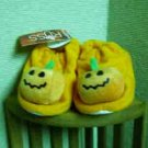 Russ Berrie Halloween Warm & Toasty Pumpkin Baby Booties - Orange FREE USA SHIPPING!