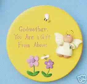 Angel Cheeks Plaque - Godmother Gift From Above FREE USA SHIPPING!