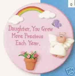 Angel Cheeks Plaque - Daughter Grow Precious FREE USA SHIPPING!