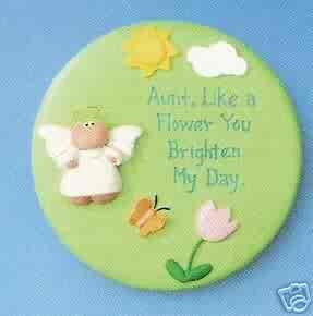 Angel Cheeks Plaque - Aunt, You Brighten My Day FREE USA SHIPPING!!