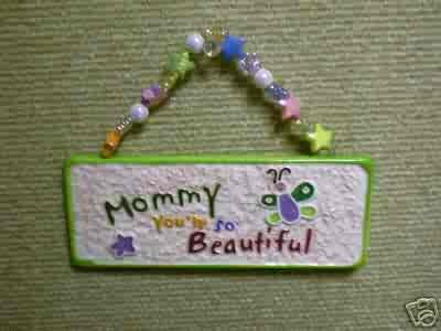 Skribbles Collection Ceramic Plaque - Mommy, You're So Beautiful - by Russ Berrie