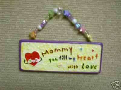 Skribbles Collection Ceramic Plaque - Mommy, You Fill My Heart with Love - by Russ Berrie