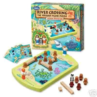 River Crossing Jr. Solitaire Logic Game by Thinkfun FREE USA SHIPPING!