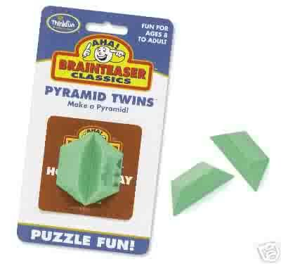 Aha! Pyramid Twins Brainteaser Puzzle by Thinkfun  FREE USA SHIPPING!!!