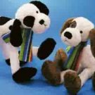 Russ Berrie Wags to Whiskers Collection - Bendable Dog - White & Black FREE USA SHIPPING!!!