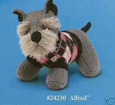 Russ Berrie Debonair Dogs Collection - Alfred Schnauzer Small