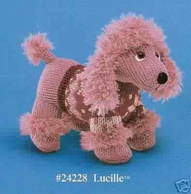 Russ Berrie Debonair Dogs Collection - Lucille Pink Poodle Small