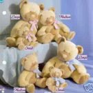 Russ Berrie Baby Collection - Taffey Patchwork Rattle Teddy Bear - Large Pink