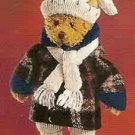Russ Berrie Alpine Bears  Teddy Bear with White Cap/Scarf FREE USA SHIPPING!