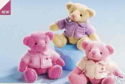 Russ Berrie Valentine - Pink I Love Your Hugs Teddy Bear FREE USA SHIPPING