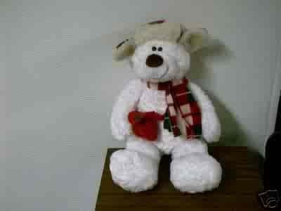 Gund Christmas Plush Winter Polar Bear FREE USA SHIPPING!!!