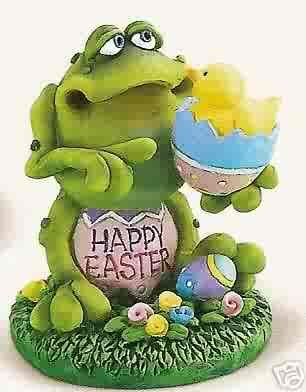 Russ Toadily Yours Easter Collection - Frog with Chick & Egg - Doug Harris FREE USA SHIPPING!