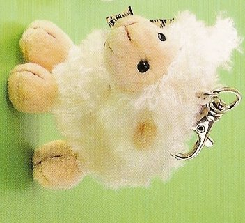 Russ Berrie Easter Collection - Woolsen Lamb Backpack Clip - White FREE USA SHIPPING