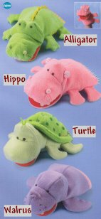 Russ Berrie Bath Time Bath Puppet - Hippo - FREE USA SHIPPING!