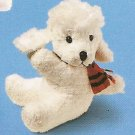 Russ Christmas Luv Pets Clip On White Poodle - Party Favor Stocking Stuffer FREE USA SHIPPING!