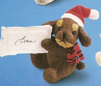Russ Christmas Luv Pets Clip On Brown Santa Puppy - Party Favor Stocking Stuffer FREE USA SHIPPING!