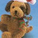 Russ Christmas Luv Pets Clip On Tan Santa Puppy - Party Favor Stocking Stuffer FREE USA SHIPPING!