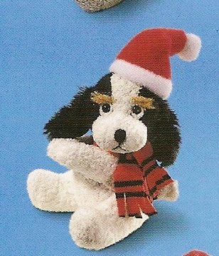 Russ Christmas Luv Pets Clip Black/White Santa Puppy - Party Favor Stocking Stuffer FREE USA SHIP!