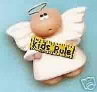 Angel Cheeks Lapel Pin - Teacher - Kids Rule - FREE USA SHIPPING!