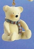 Russ Berrie Peace in the Meadow Christmas Ornament - Polar Bear FREE USA SHIPPING!