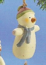 Russ Peace in the Meadow Christmas Ornament - Snowman with Red Cap FREE USA SHIPPING!!