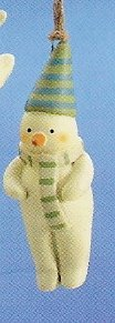 Russ Peace in the Meadow Christmas Ornament - Snowman with Cone Hat FREE USA SHIPPING!!