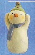 Russ Berrie Peace in the Meadow Christmas Ornament - Snowman with Green Cap FREE USA SHIPPING!!