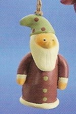 Russ Berrie Peace in the Meadow Christmas Ornament - Santa with Red Coat FREE USA SHIPPING!!!