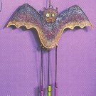 Russ Halloween Happy Hauntings Metal Mesh Wind Chimes - Bat FREE USA SHIPPING!