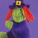 Russ Berrie Halloween Plush Clip On Toy / Party Favor - Witch