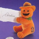 Russ Berrie Halloween Plush Clip On Toy / Party Favor - Pumpkin LIQUIDATION CLEARANCE SALE!