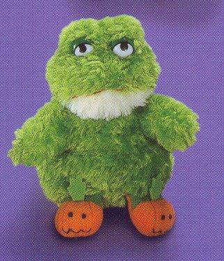 Russ Berrie Halloween Plush Pumpkin Slipper Pals - Frog LIQUIDATION CLEARANCE SALE! LAST ONE!!!
