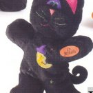 Russ Berrie Halloween Softies Plush Bendies - Black Cat FREE USA SHIPPING!!!