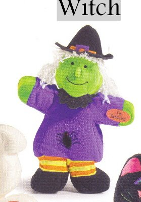 Russ Berrie Halloween Softies Plush Bendies - Witch FREE USA SHIPPING!!