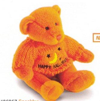 Russ Berrie Plush Halloween Sweater Teddy Bear - Spookly Orange FREE USA SHIPPING!