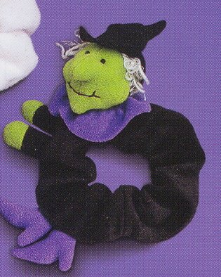 Russ Berrie Halloween - Velour Hair Scrunchies - Witch FREE USA SHIPPING!