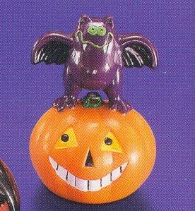 Russ Halloween - Blinking Wobble Party Favor Toy - Bat on Pumpkin - LIQUIDATION CLEARANCE SALE!