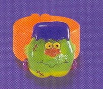 Russ Berrie Halloween Happy Hauntings Ring - Frankenstein Monster -FREE USA SHIPPING!